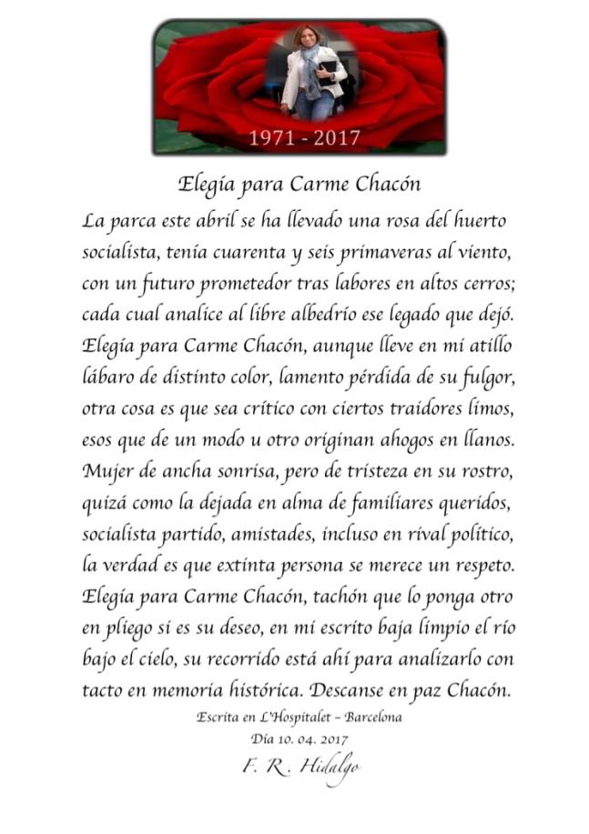 F. R . Hidalgo Elegía para Carme Chacón .jpg