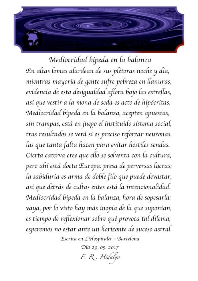F. R . Hidalgo Mediocridad bípeda en la balanza .jpg