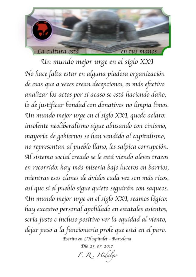 F. R . Hidalgo Un mundo mejor urge en el siglo XXI .jpg