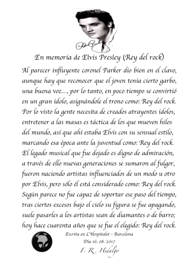 F. R . Hidalgo En memoria de Elvis (Rey del rock) .jpg