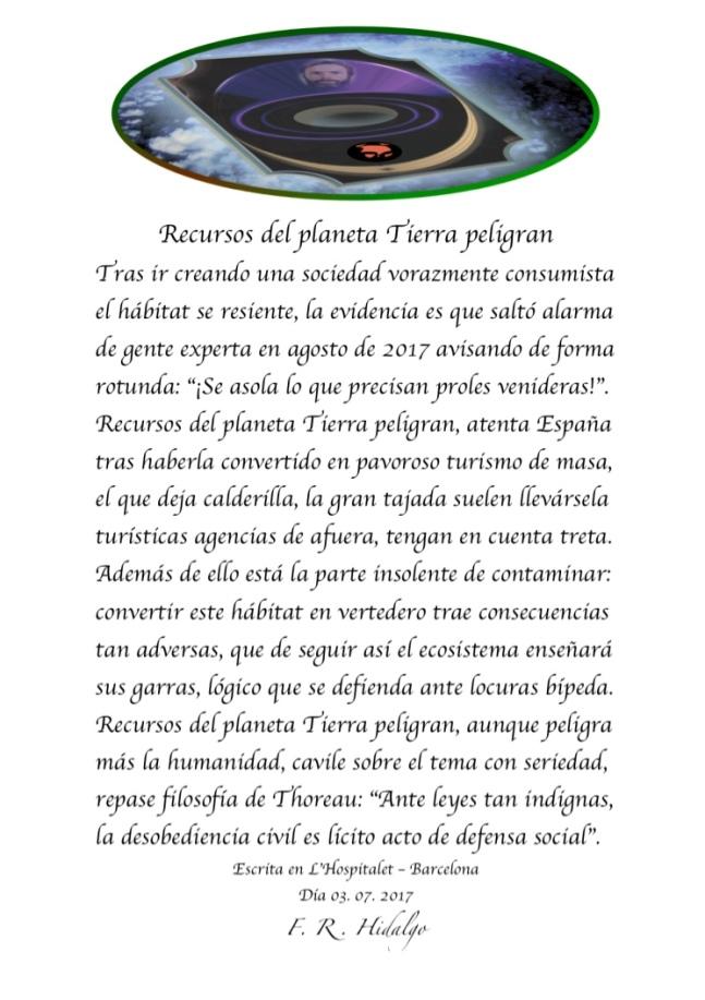 F. R . Hidalgo Recursos del planeta Tierra peligran.jpg