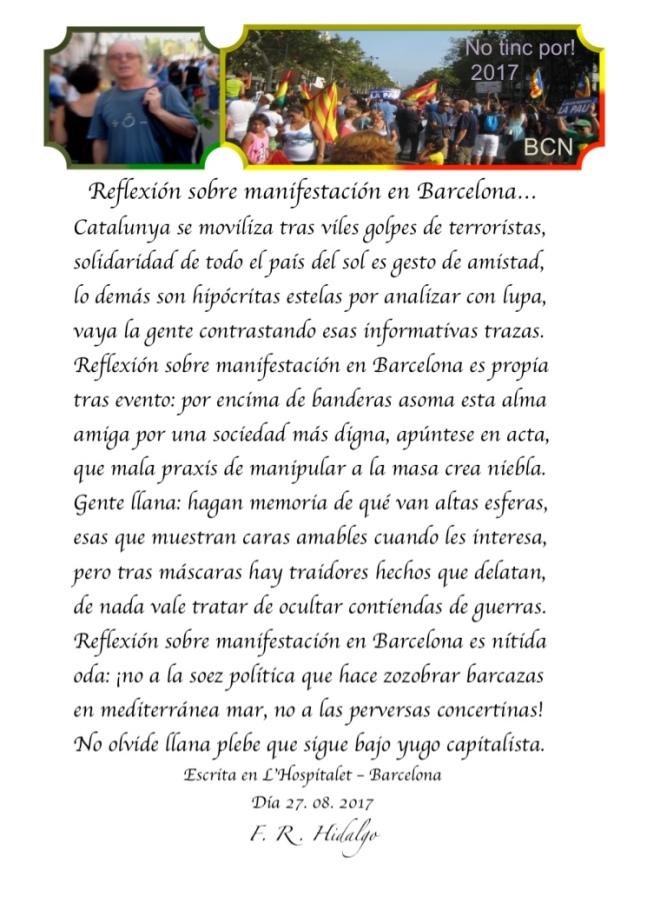F. R . Hidalgo Reflexión sobre manifestación en Barcelona... .jpg